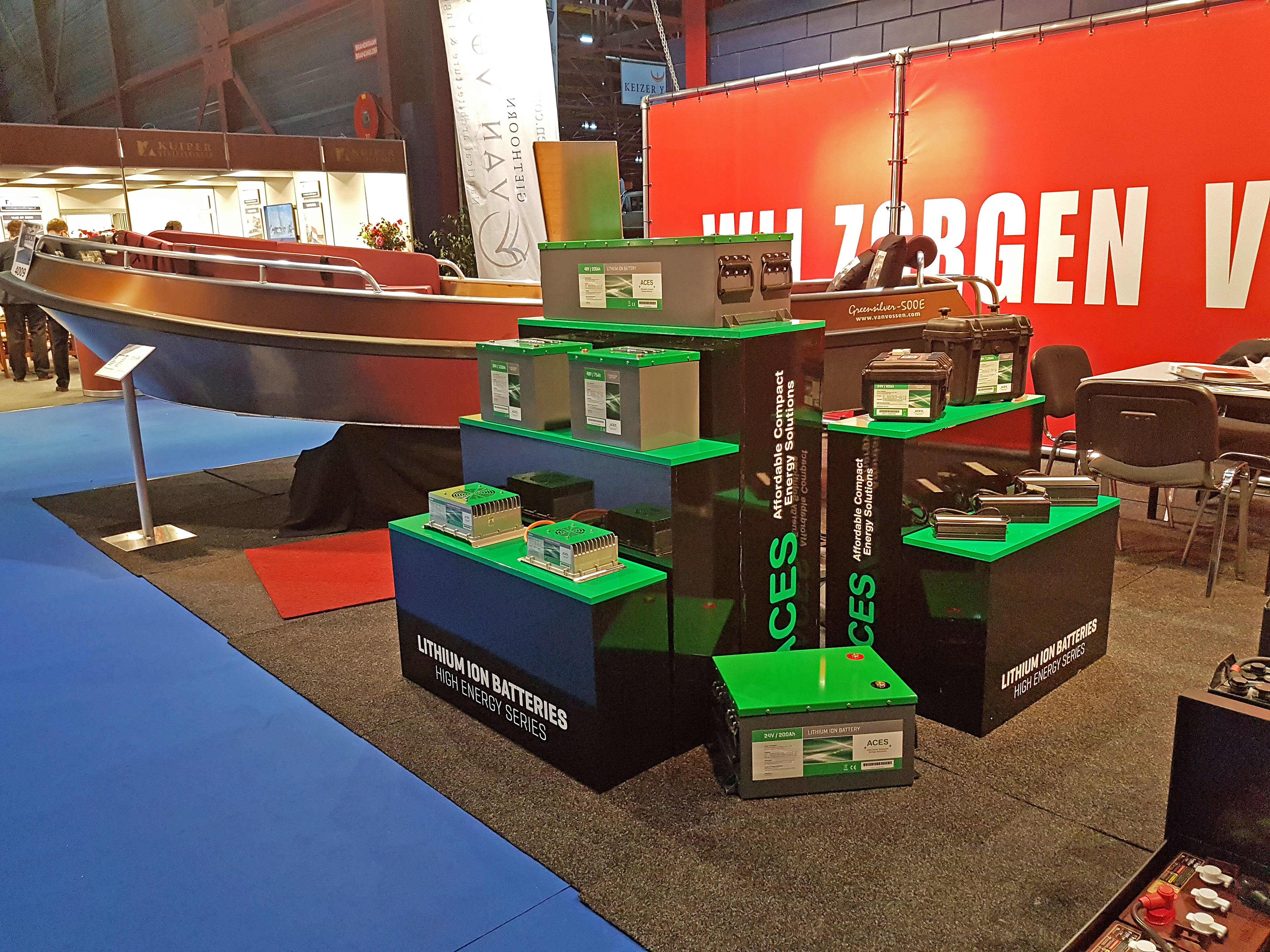 ACES batteries introduced at BOOT Holland