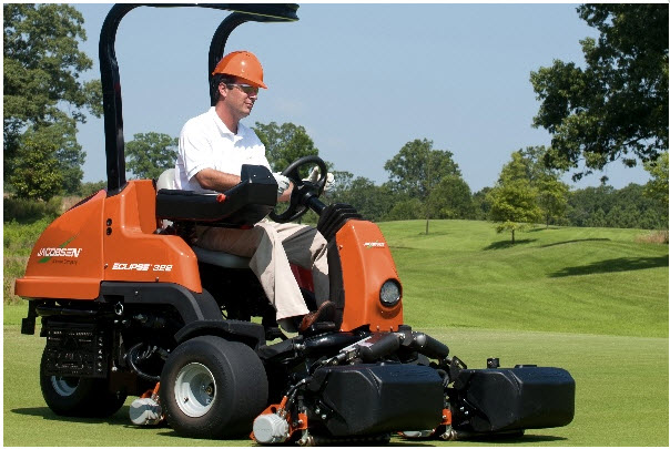 ACES Batteries used in lawnmowers for greens